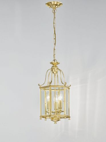 Franklite LA7006/3 Polished Brass Pendant Light
